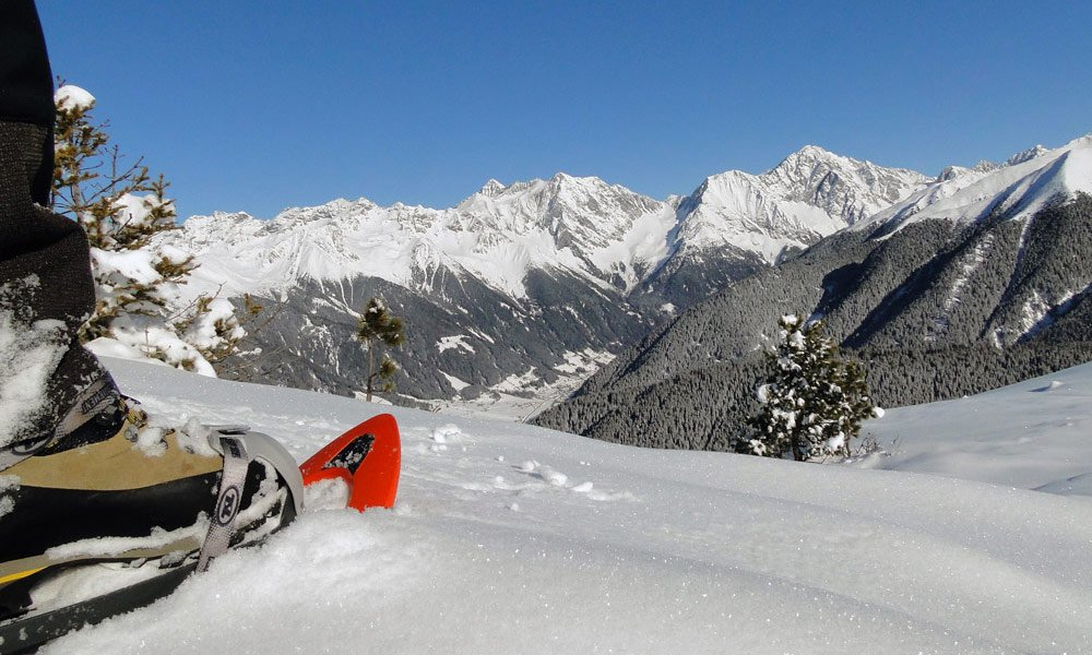 What is offered to skiers in the winter in Anterselva?